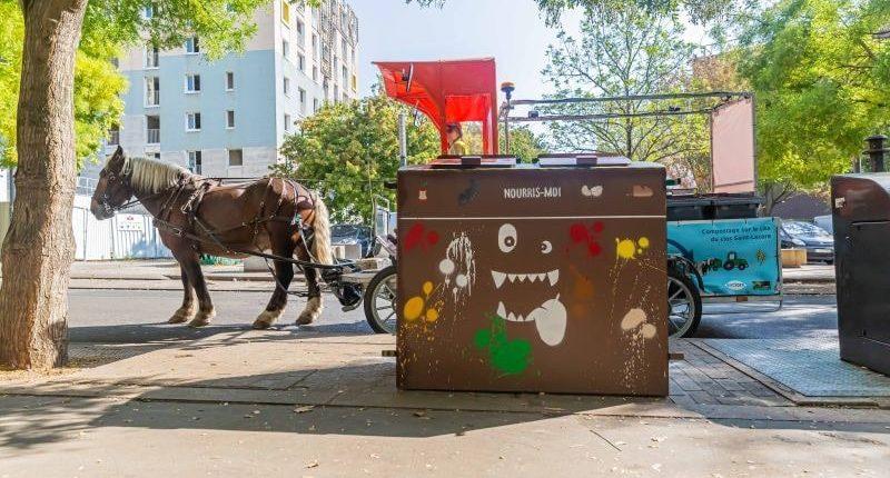 collecte de déchets alimentaires à Stains