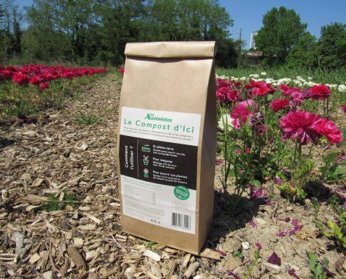 Notre compost emballé et prêt à utiliser