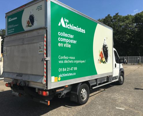 nos camions de collecte